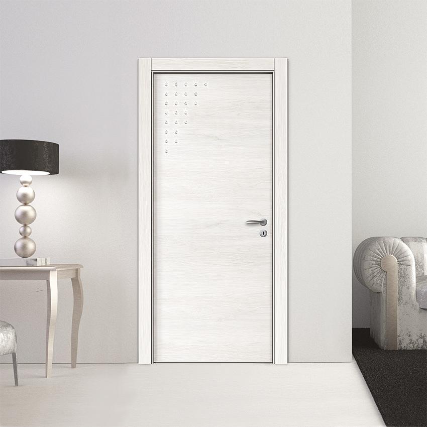 Porte Acero Bianco con Cristalli Swarovski Modello L053