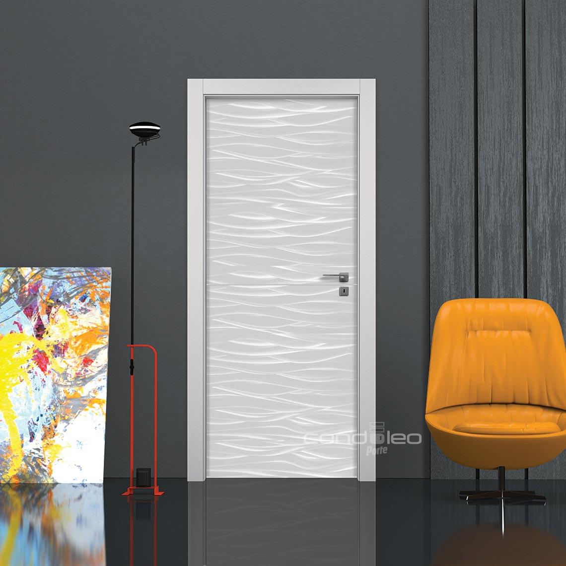 Porta interna 3D ILLUSION GRIGIA • Porte interne Condoleo