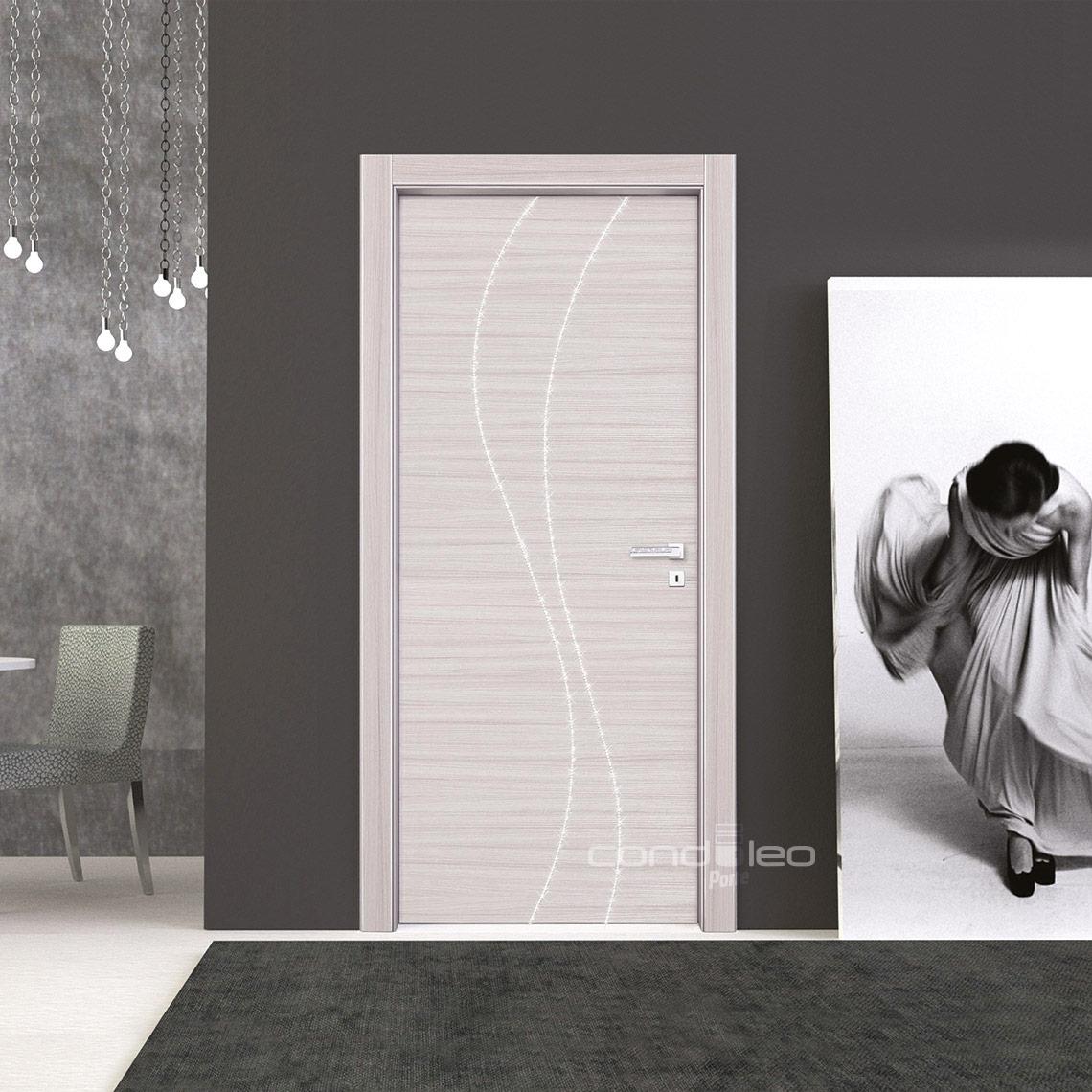 Porte Palissandro Bianco, Decoro catena strass grande Mod. L017