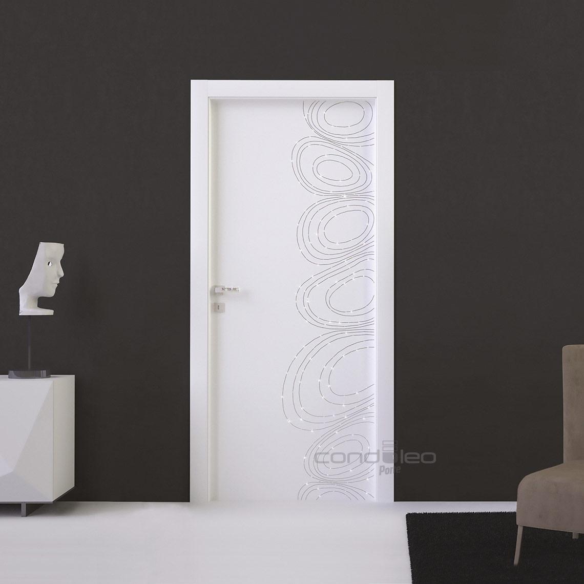"""Porte Bianche con Brillantini Catena Strass Piccola modello """"022"""" Mod. L049"""