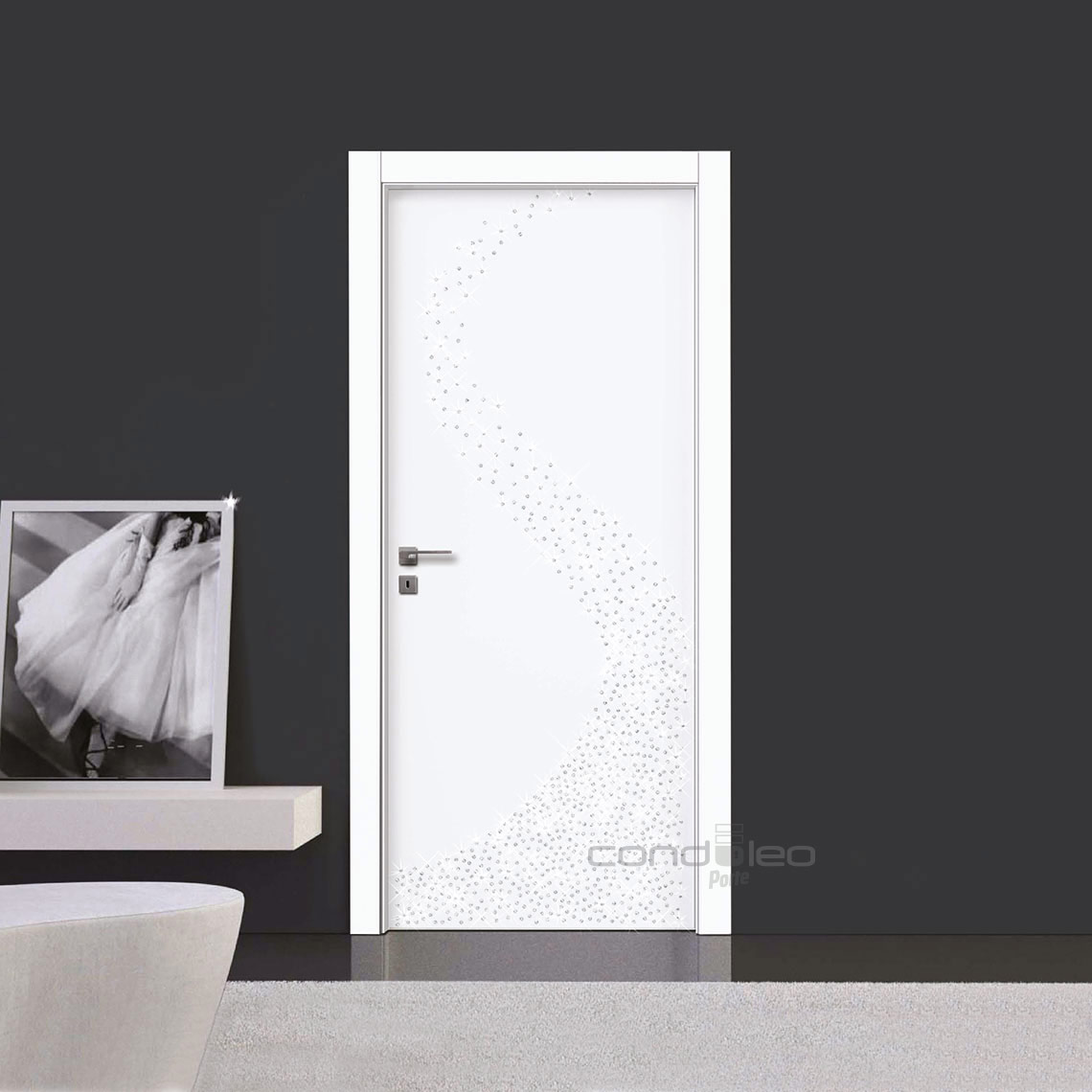 Porte Bianche con Cristalli Swarovski , Mod. L051