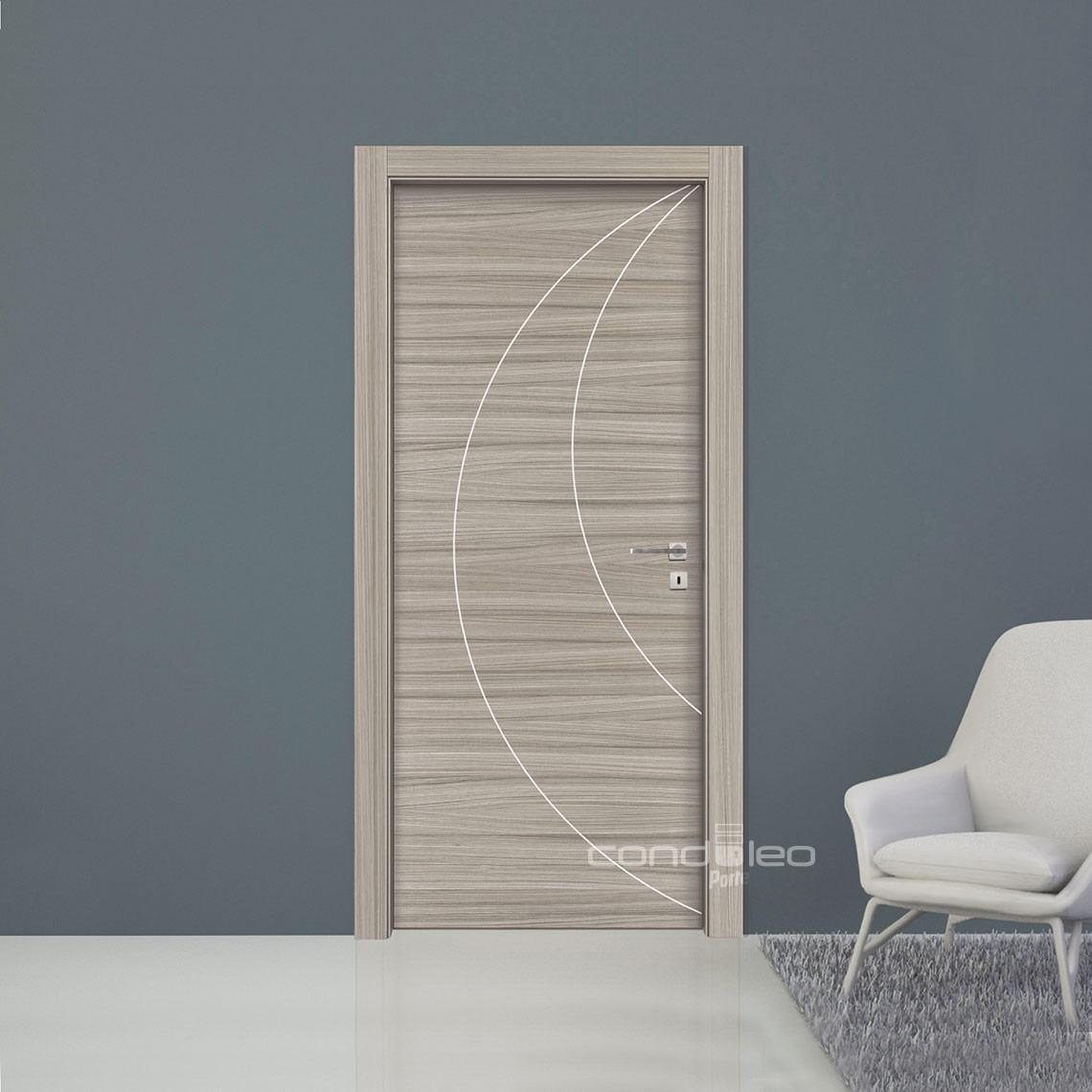 Porte Con Inserti In Alluminio : Collezione laminato porte interne condoleo