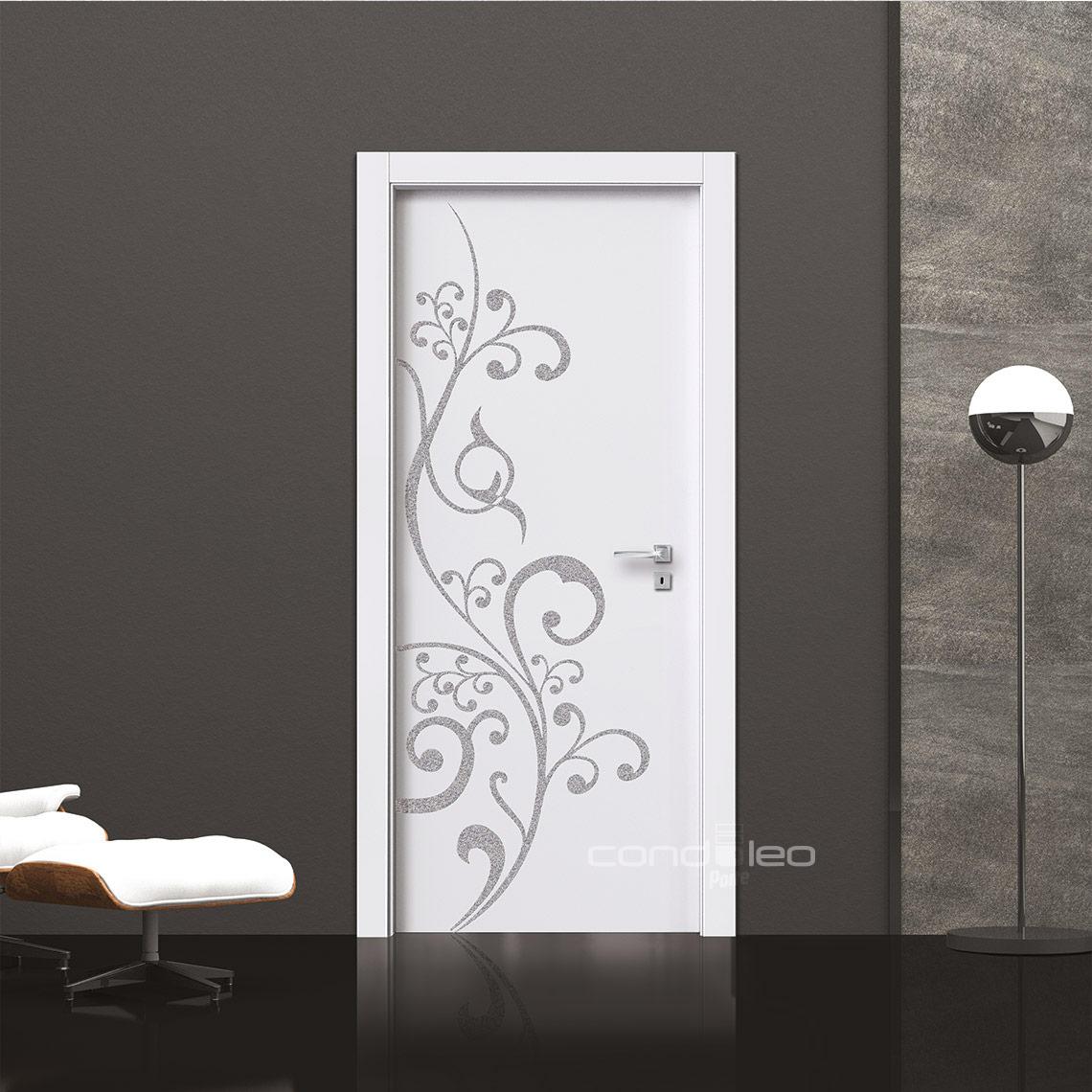 Porta bianca con Decoro Glitter Modello L063