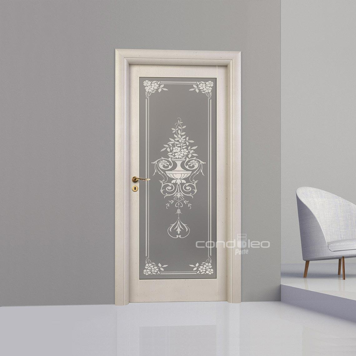 Porta interna lm001 19v porte interne condoleo - Porta interna vetro ...