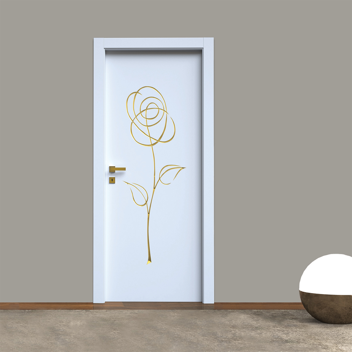 Porte incisione 3D laccate decoro Fantasy 03