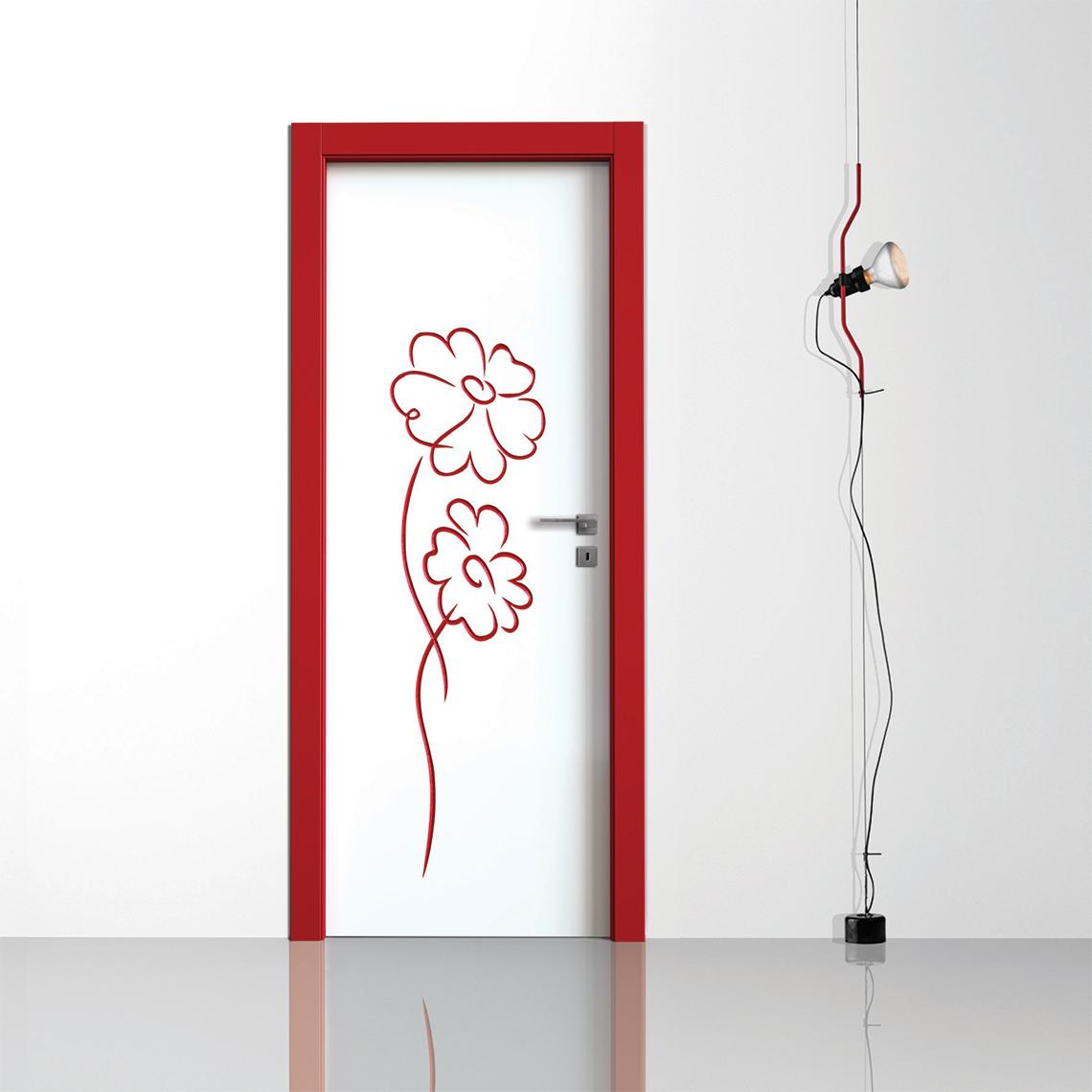 Porte interne laccate bicolore incise 3D con decoro Fantasy 01