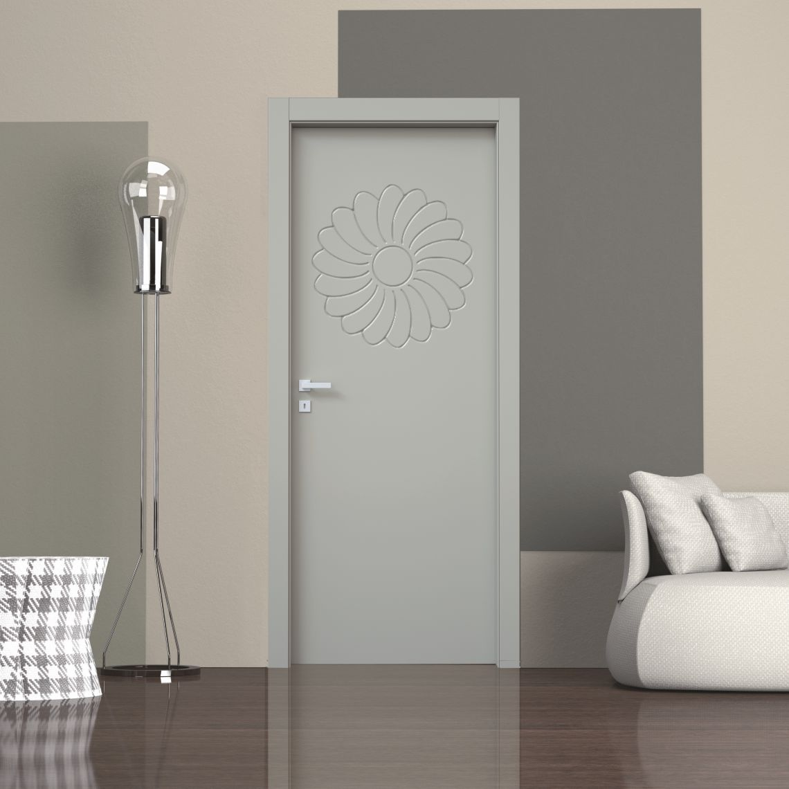 Porte interno laccate incisione 3D Decoro Fantasy 12