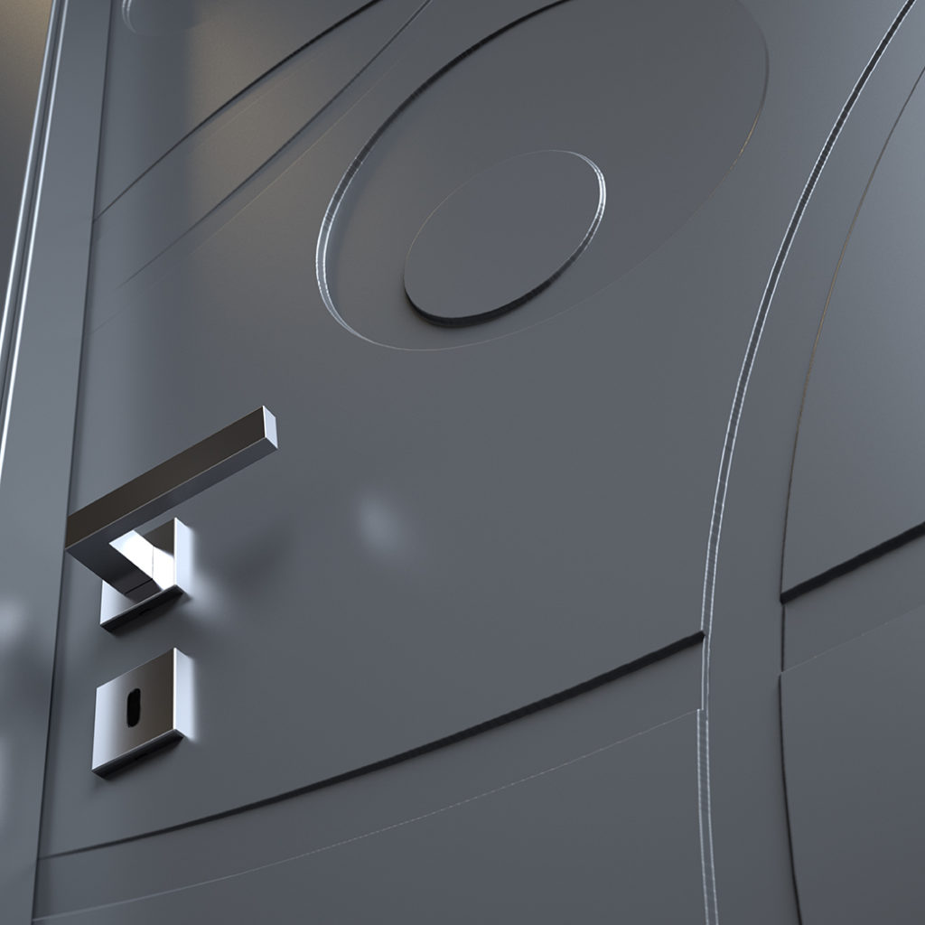 Porte moderne pantografate Prestige 04 particolare