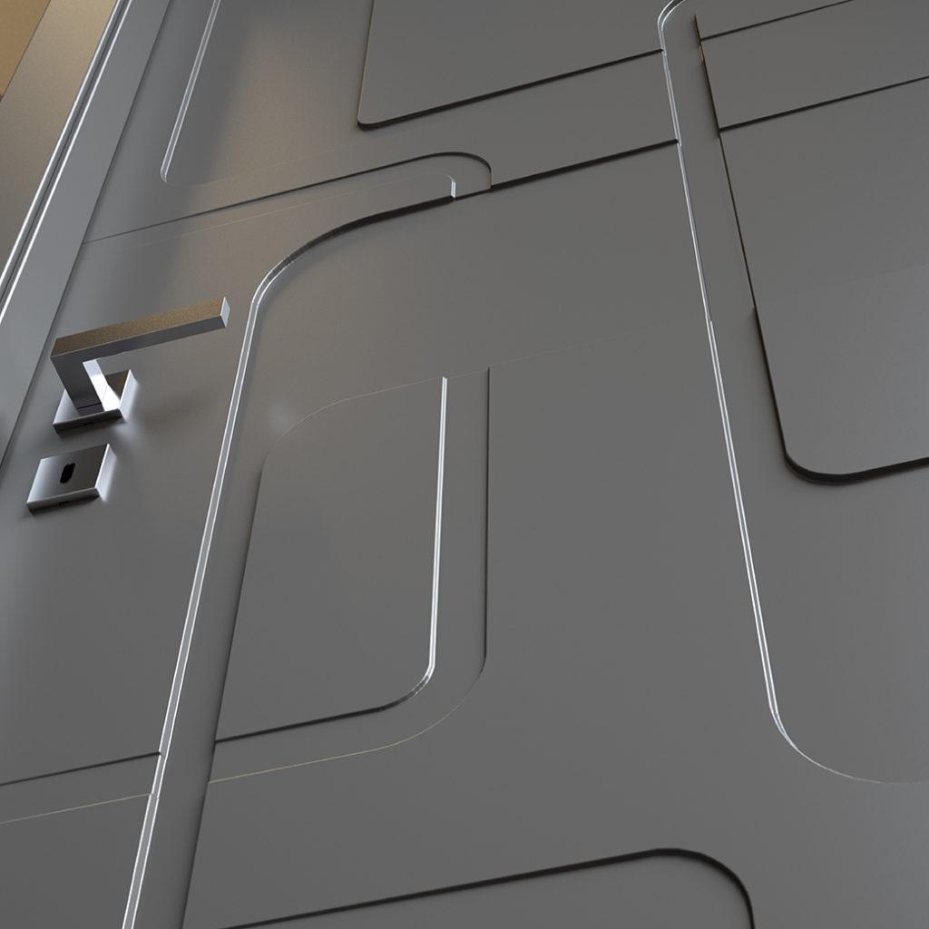 Porte moderne pantografate Prestige 05 particolare
